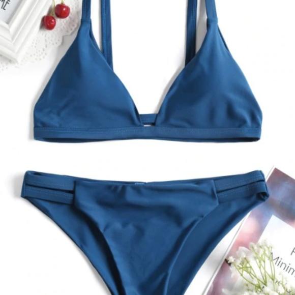 Zaful Other - Blue Bikini